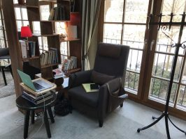 chair reading writing spot